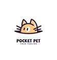pocket pet logo vector image vector image