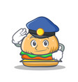 police burger character fast food vector image vector image