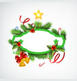 realistic christmas wreath concept vector image