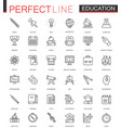 school university education thin line web icons vector image vector image