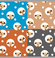 seamless pattern with kawaii dog vector image