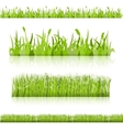 Set grass image vector image vector image
