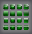 Set of blank green buttons vector image