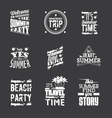 Set of Summer Holidays lettering vector image
