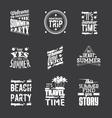 set summer holidays lettering vector image