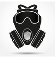 Silhouette symbol of gas mask respirator vector image vector image
