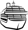 simple with a ship vector image