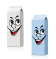 smiling milk and juice cartons vector image vector image