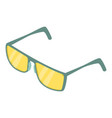 spectacles icon isometric 3d style vector image vector image