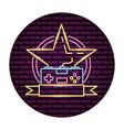 star control gadget video game neon vector image vector image