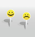 Sticker with two smiles vector image vector image