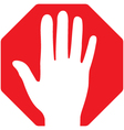 Stop-Hand vector image vector image