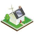 sustainable renewable energy house vector image vector image
