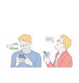 technology communication social media business vector image vector image