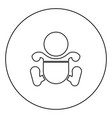 toddler boy with diapers black icon outline in vector image vector image