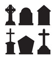 tombstone set vector image