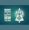 typographical grunge retro christmas card design vector image vector image