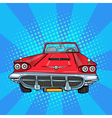 Vitage American Car Retro Vehicle Pop Art vector image