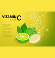 vitamin c lime soluble pills with lime flavour in vector image vector image