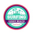 waves surfing vintage isolated label vector image