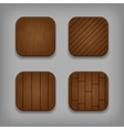 wooden buttons set vector image