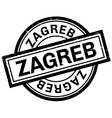Zagreb rubber stamp vector image vector image
