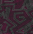 abstract pink tribal seamless pattern with grunge vector image