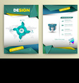 design page template modern style vector image