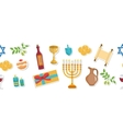 Happy Hanukkah seamless poster greeting card vector image