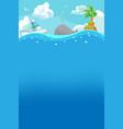 beach summer under water background vector image