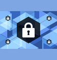 blue future technology internet security vector image