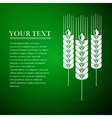 Wheat ear flat icon on green background vector image