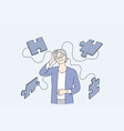 alzheimer illness disease patients concept vector image