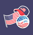american flag day festival patriotic stickers vector image