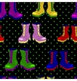 ankle boots seamless pattern vector image