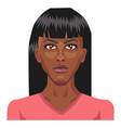 beautiful african girl on white background vector image vector image