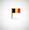 belgium flag pin vector image vector image