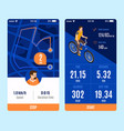 bicycle mobile app variants vector image