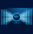 big data futuristic science background with copy vector image vector image
