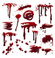 blood splatters set vector image
