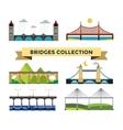 Bridge silhouette set vector image vector image