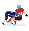 brutal american football players gridiron game vector image vector image