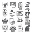 business management icons pack 37 vector image vector image