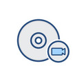 camera disk drive storage video icon vector image