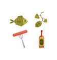 cartoon beer symbols icon set vector image vector image