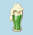 cheers happy st patrick s day beer mugs vector image