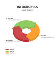 circle diagram pie diagram 3d infographics vector image