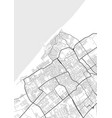 city map of hague in black and white vector image