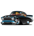 classic hot rod fifties muscle car with couple vector image