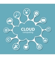 Cloud Computing Concept on Different Electronic vector image vector image